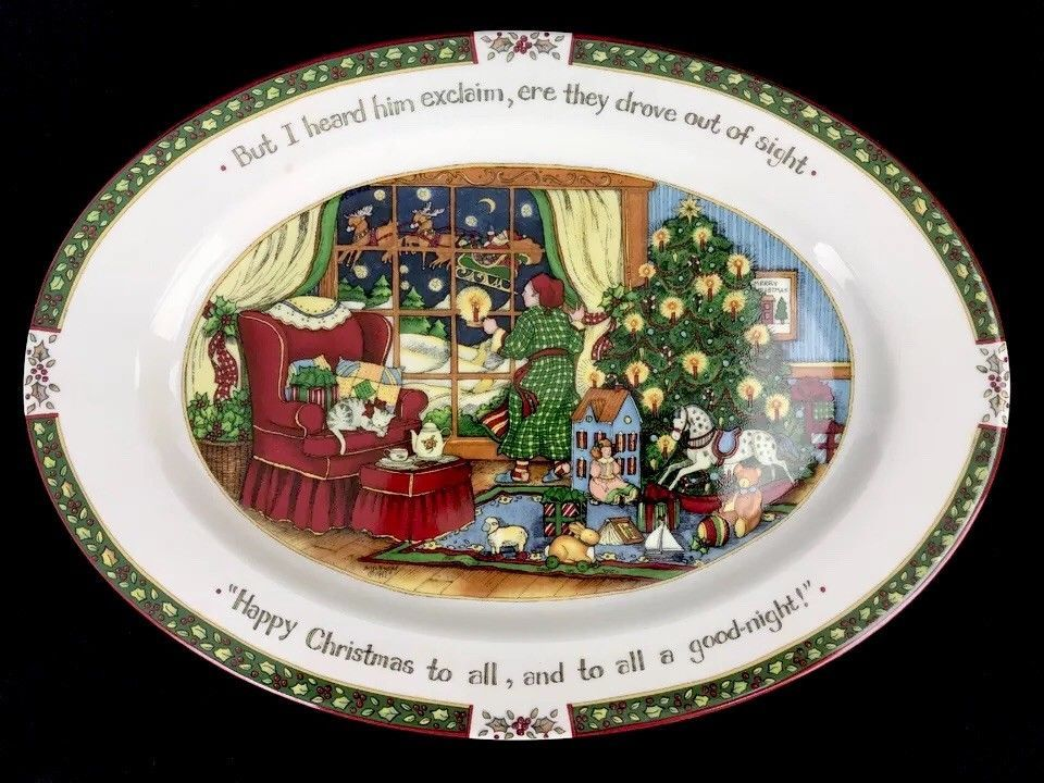 Christmas Platters For Sale.A Christmas Story Susan Winget Oval Serving Platter
