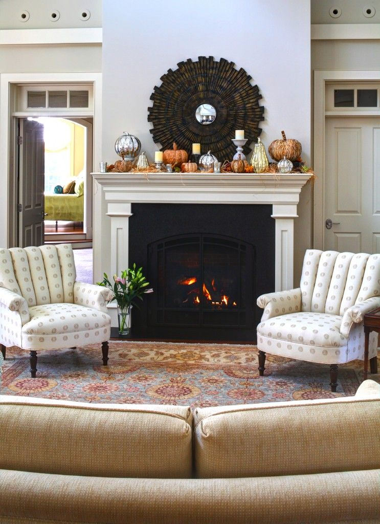 french country cottage autumn fireplace mantel inspirations for rh pinterest com Custom Fireplace Mantels Country Fireplace Mantel Shelves