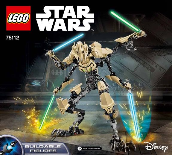 Star Wars Battle Figures General Grievous Lego 75112 Lego Sets