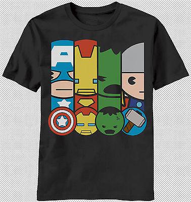 c4be72ccf The Kawaii Babies Captain America Thor Hulk Iron Man T Shirt Top Marvel  Comics | eBay