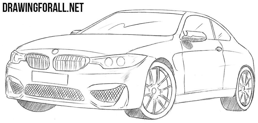 How To Draw A Bmw M4 Bmw M4 Bmw Sketch Car Drawings