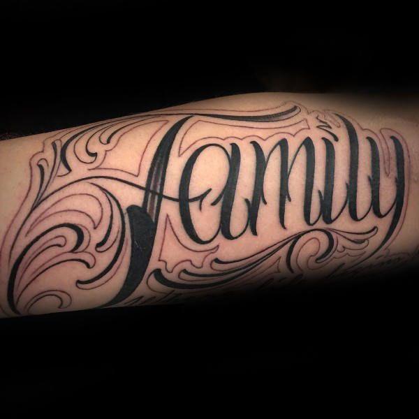 family script pinstripe male tattoo designs | first tattoo