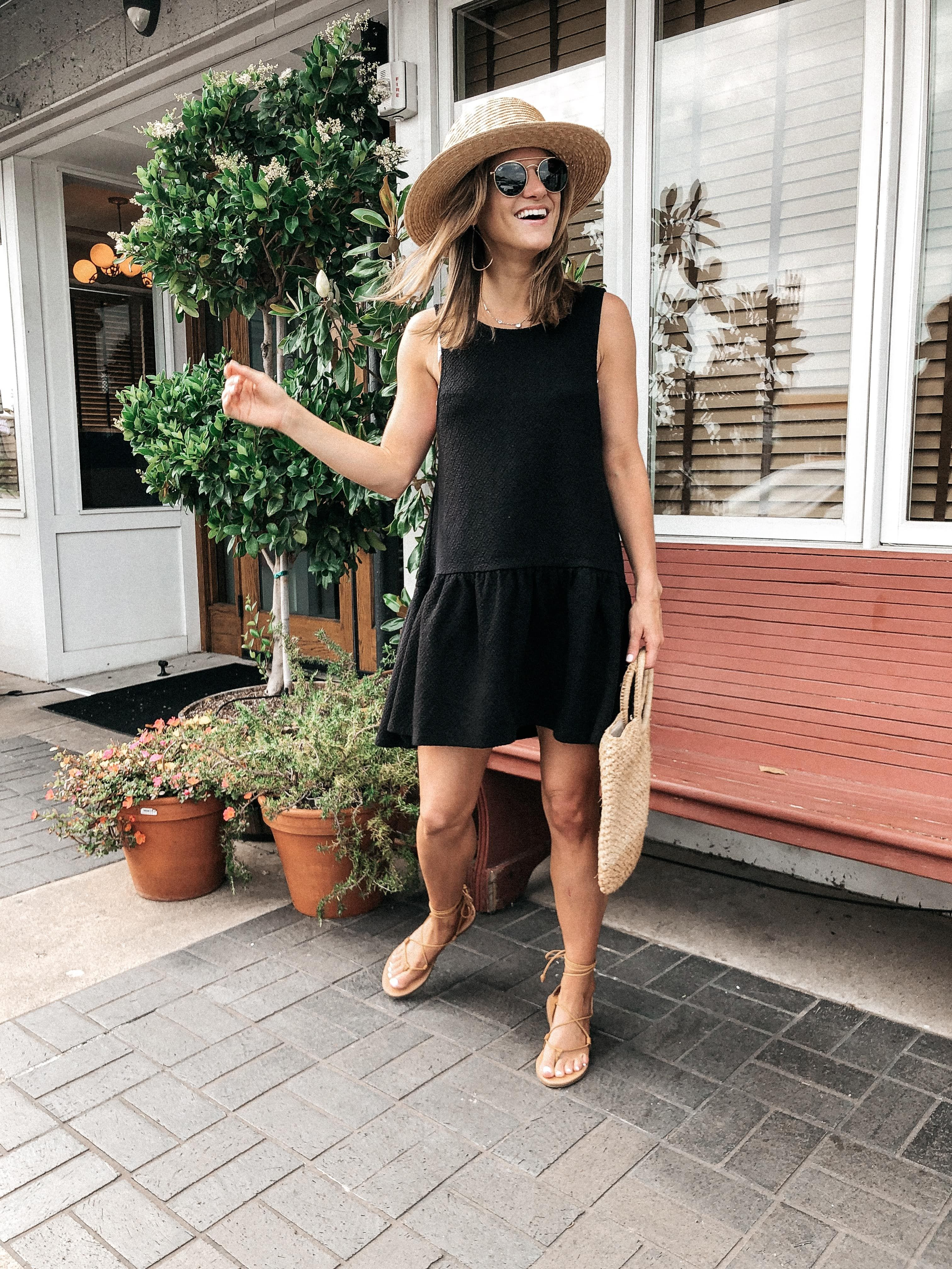 Shoes And Bag Beach Outfit Summer Black Dress Fashion [ 4032 x 3024 Pixel ]