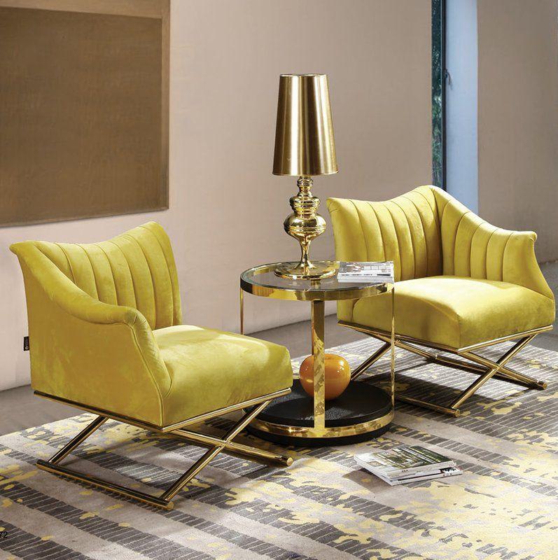Best Weingarten 2 Piece Armchair Set In 2020 Accent Chairs 400 x 300