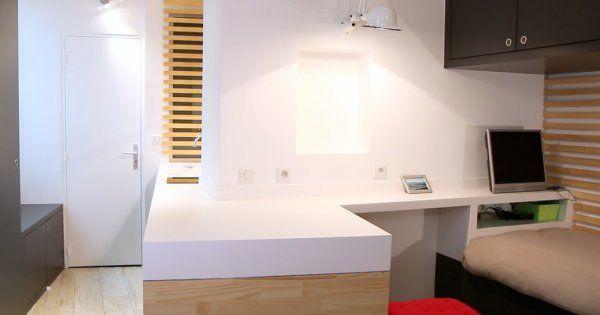15 m2 pour vivre à deux Small apartment interior design, Apartment