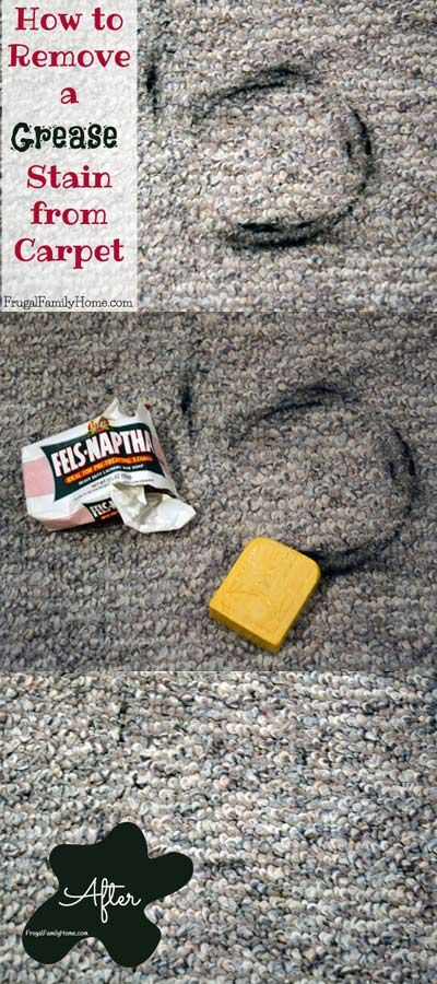 How to Remove a Grease Stain from Carpet | Grease stains ...
