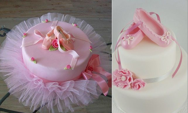 Ballet cakes by bubolinkata left and by two little figs for Ballerina cake decoration