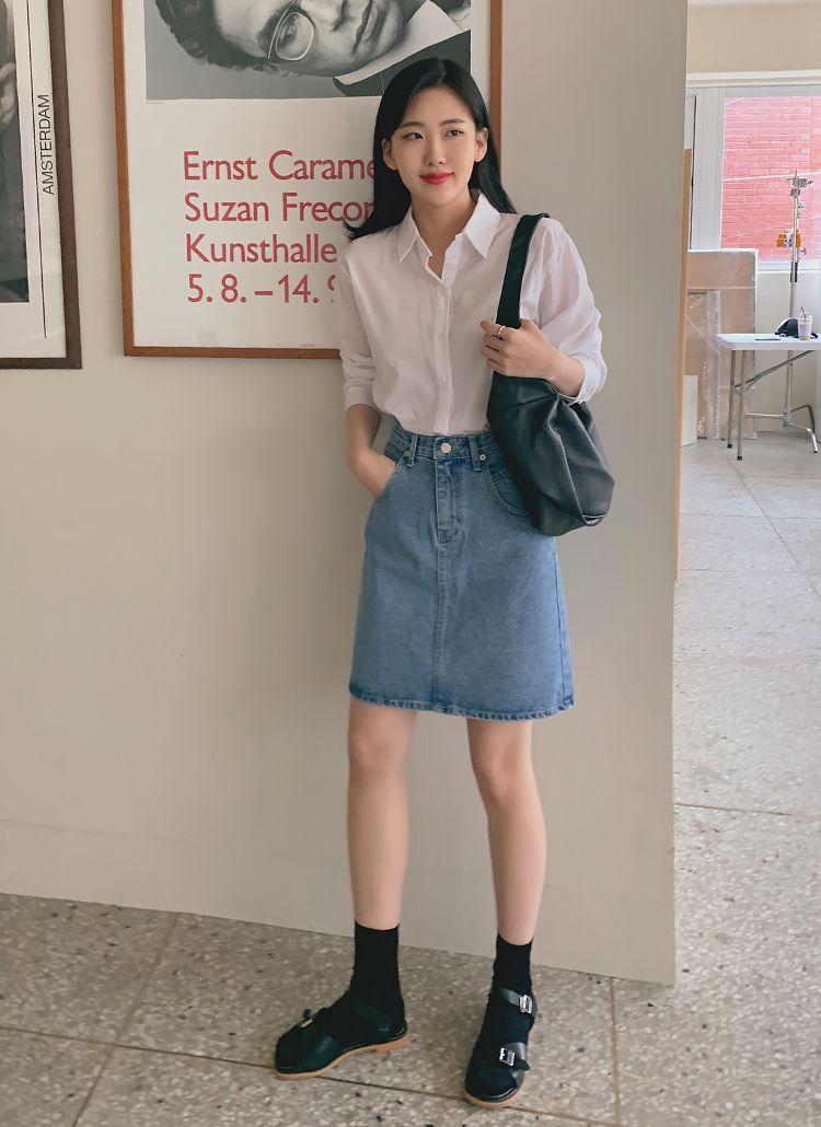 デニムミニスカート レディースファッション通販 dholicディーホリック ファストファッション 水着 ワンピース 普段着 韓国 服 ファッション