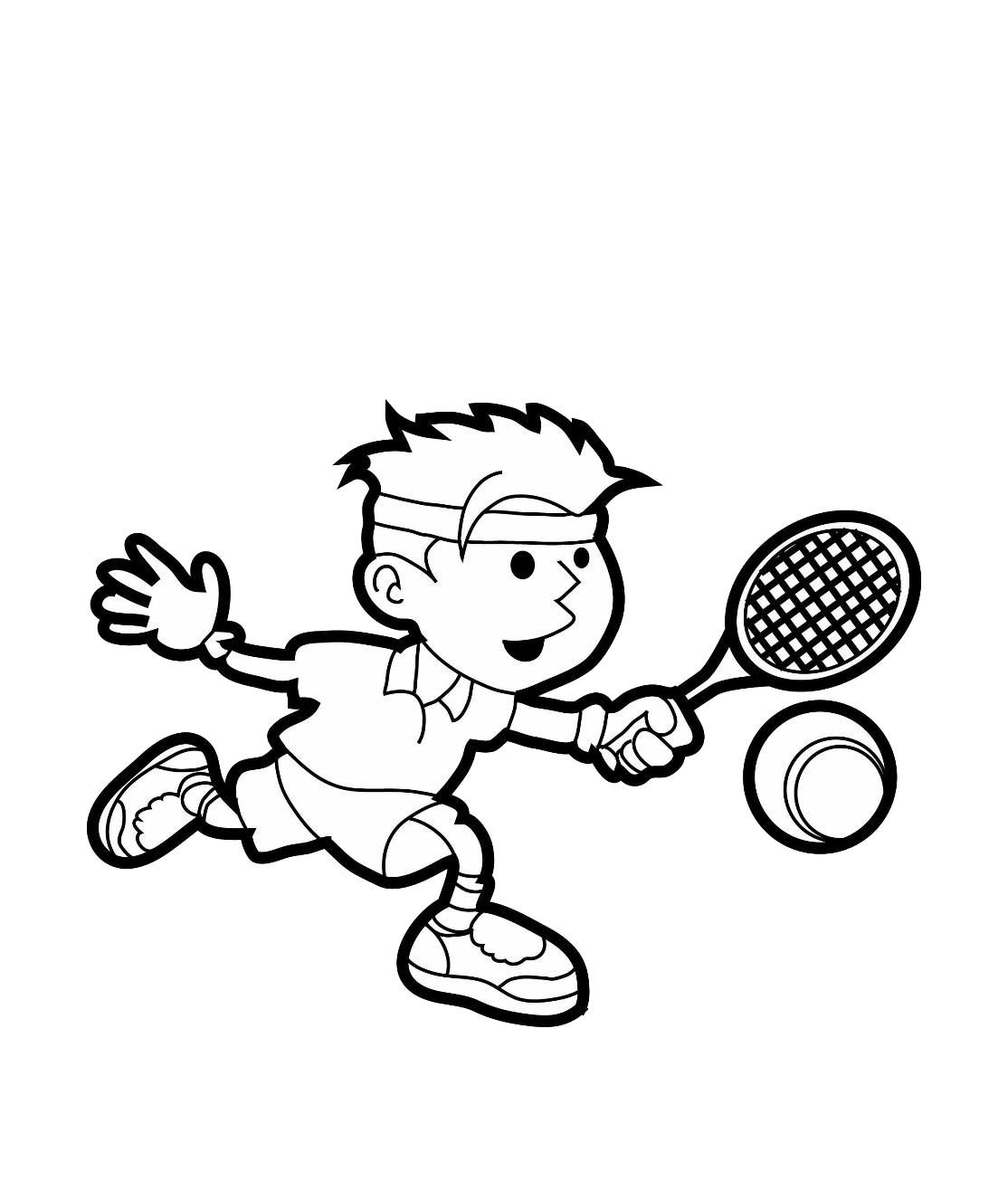 Play Tennis | Coloring pages, Sports drawings, Coloring ...