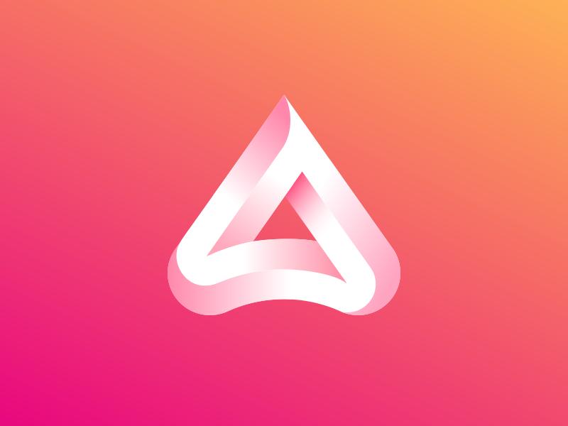 A Triangle Mark Triangle Beer Logo Monogram Logo Design