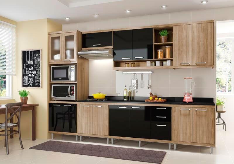 Cozinha Compacta Multimoveis Sicilia Com Tampo 15 Portas 3