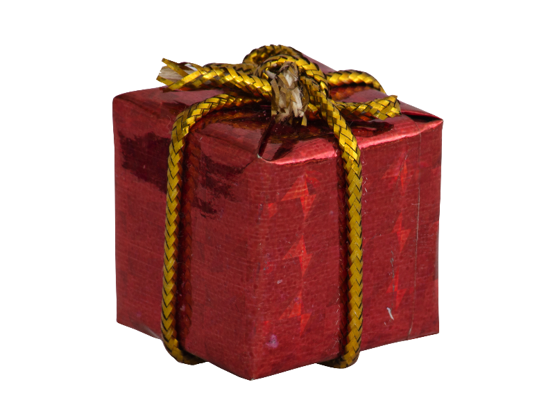 Little Gift Box Christmas Ornament PNG Little gifts