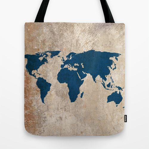 Rustic world map tote bag etsy marketplace pinterest rustic world map tote bag gumiabroncs Images