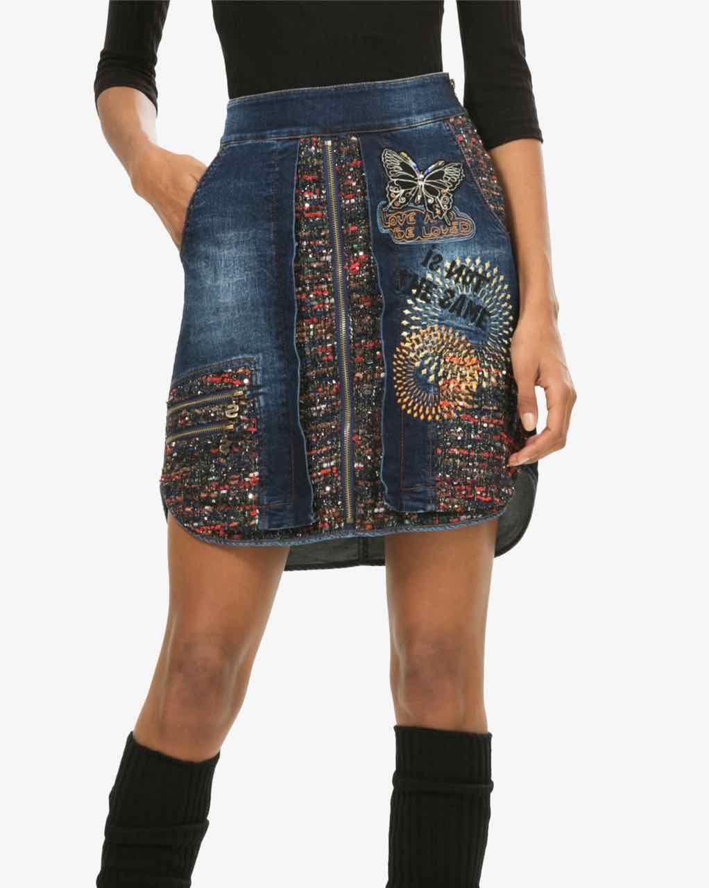 dbf600411 Desigual Denim Skirt Natalia, Buy Online | Desigual favorite in 2019 ...