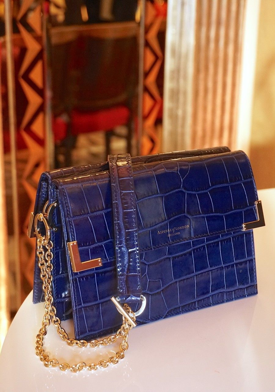 Introducing the new Aspinal of London Chelsea bag. It oozes vintage glamour  with its chain strap and two compartments