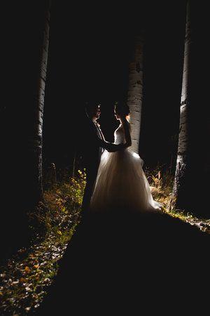 alexi hubbell durango colorado wedding photographer SILHOUETTE BRIDE AND GROOM