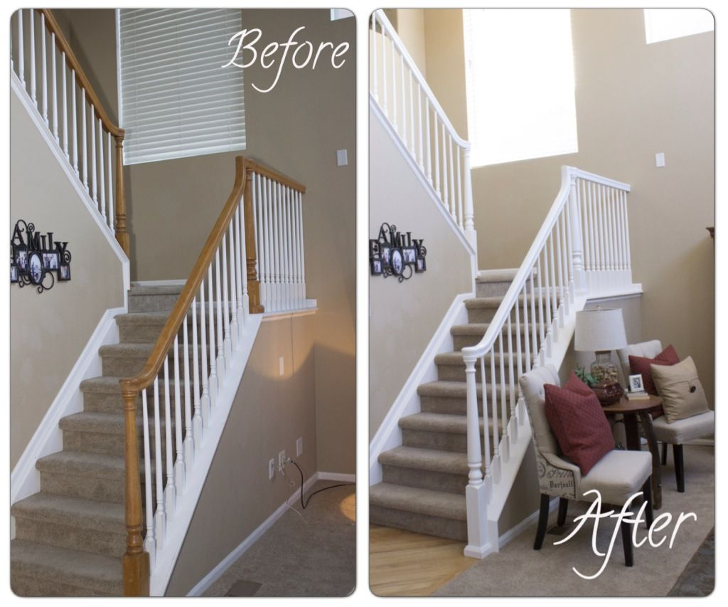 How To Diy Your Banister Easy Steps To Paint Your Staircase White