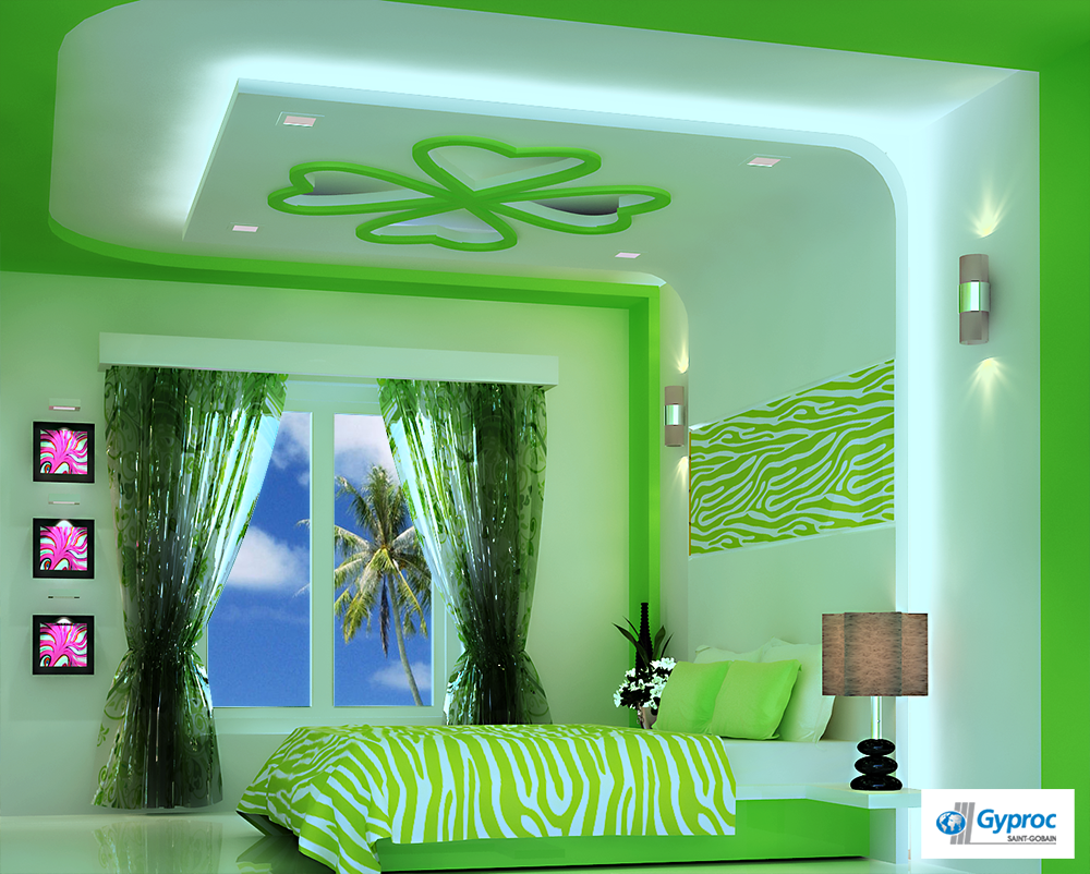 Kids bedroom ceiling decoration - Artistic Ceiling That Gets You Close To Nature To Know More Www Gyproc Artistic Bedroomfalse Ceiling Designplasterboardbedroom