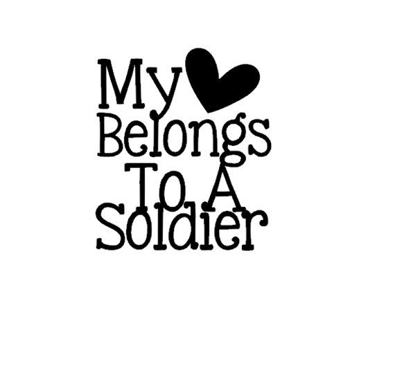 My Heart Belongs To A Soldier Car Phone Laptop Tablet Decal Sticker