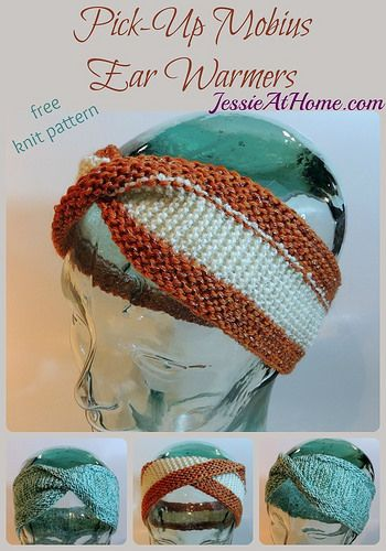 Pick-Up Mobius Ear Warmers - free knit pattern by Jessie At Home ...