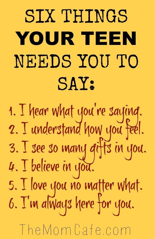 Six Things You Can Say to Encourage Your Teen - The Mom Cafe