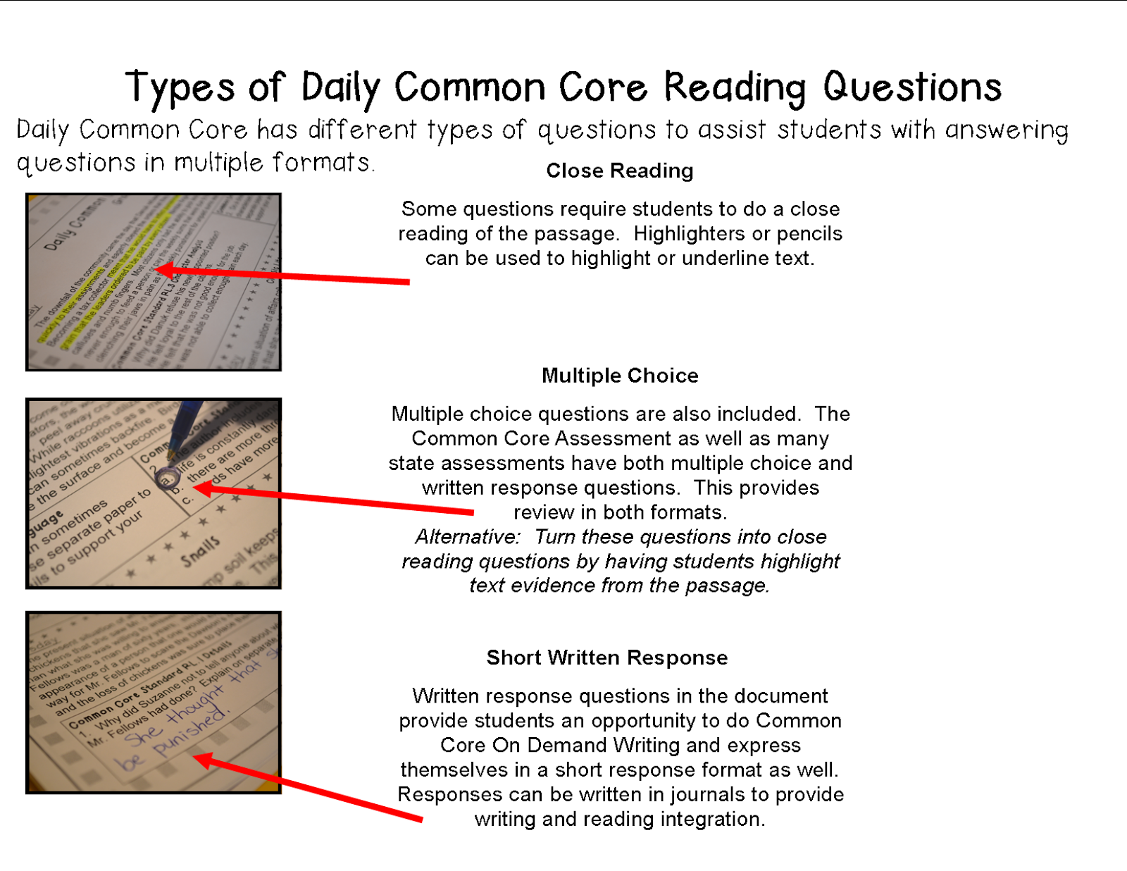worksheet Common Core Reading Comprehension Worksheets literacy math ideas a full school year of daily common core reading practice grade