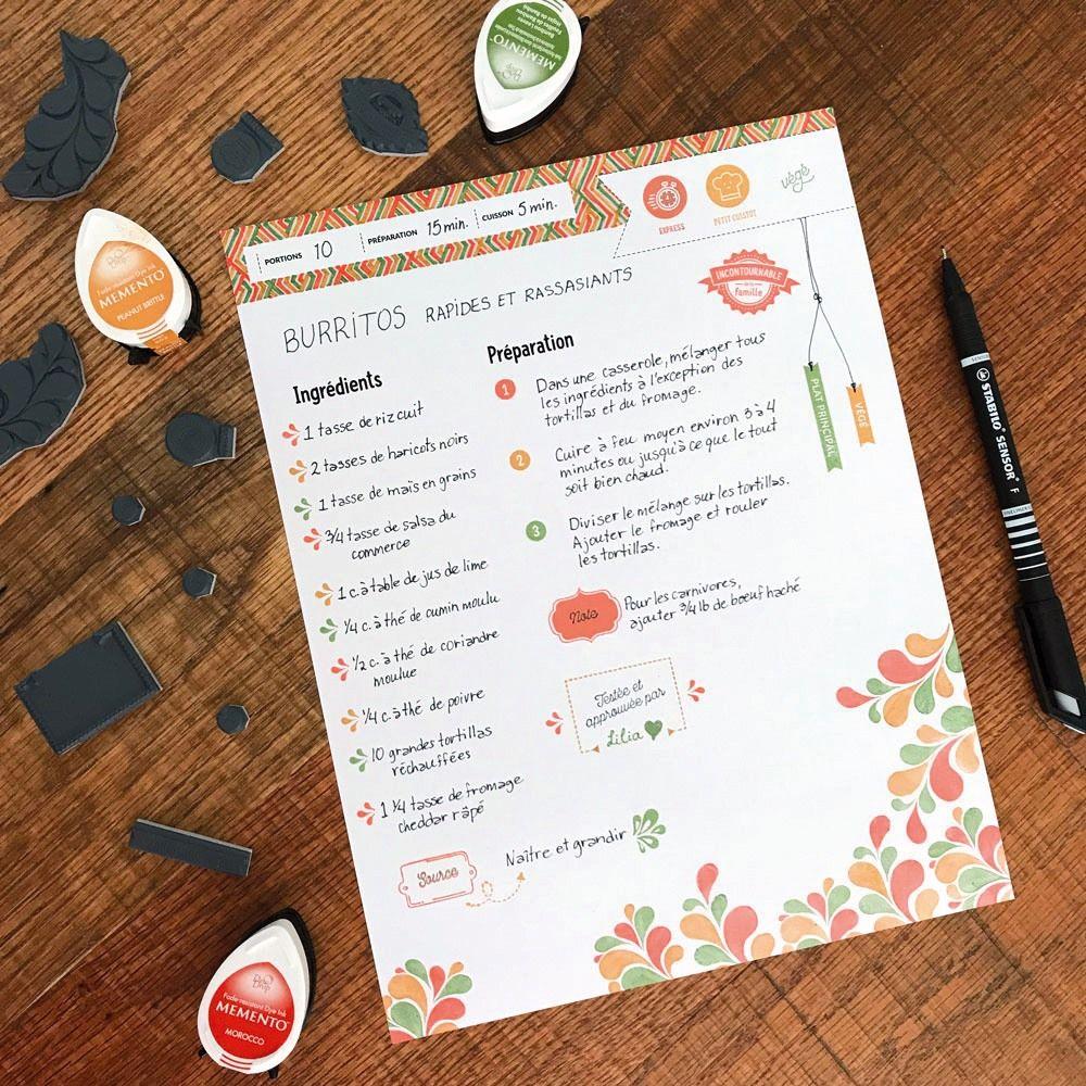 Pin op Modèle - Fiche de recettes