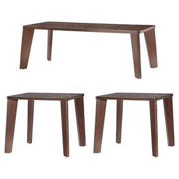Sullivan 3 Piece Mid Century Occasional Table Set Espresso - Inspire Q