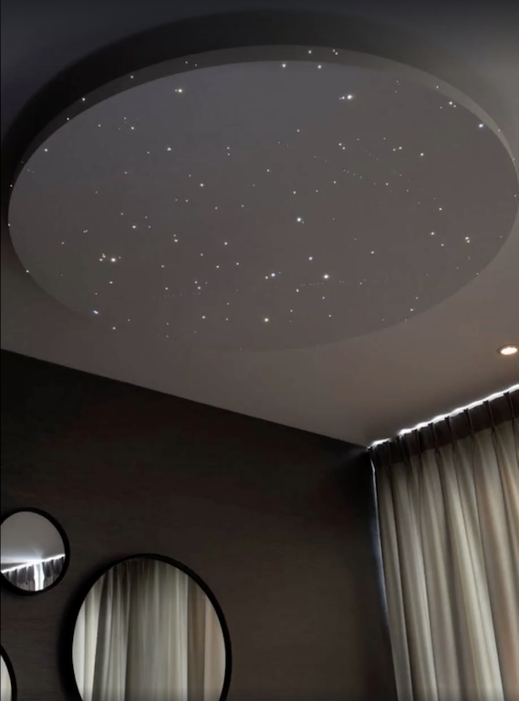 Star ceiling with shooting stars that you can hang like a lamp above star ceiling with shooting stars that you can hang like a lamp above your bed mozeypictures Choice Image