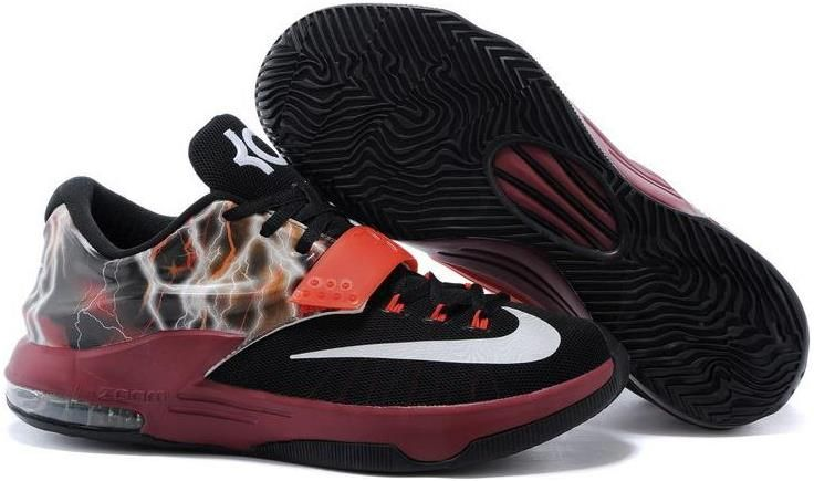 11a985fe403b Kevin Durant 7 Brown Red Black White