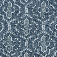 Newport Vintage Indigo Geometric Cotton Drapery fabric by Premier Prints Fabrics