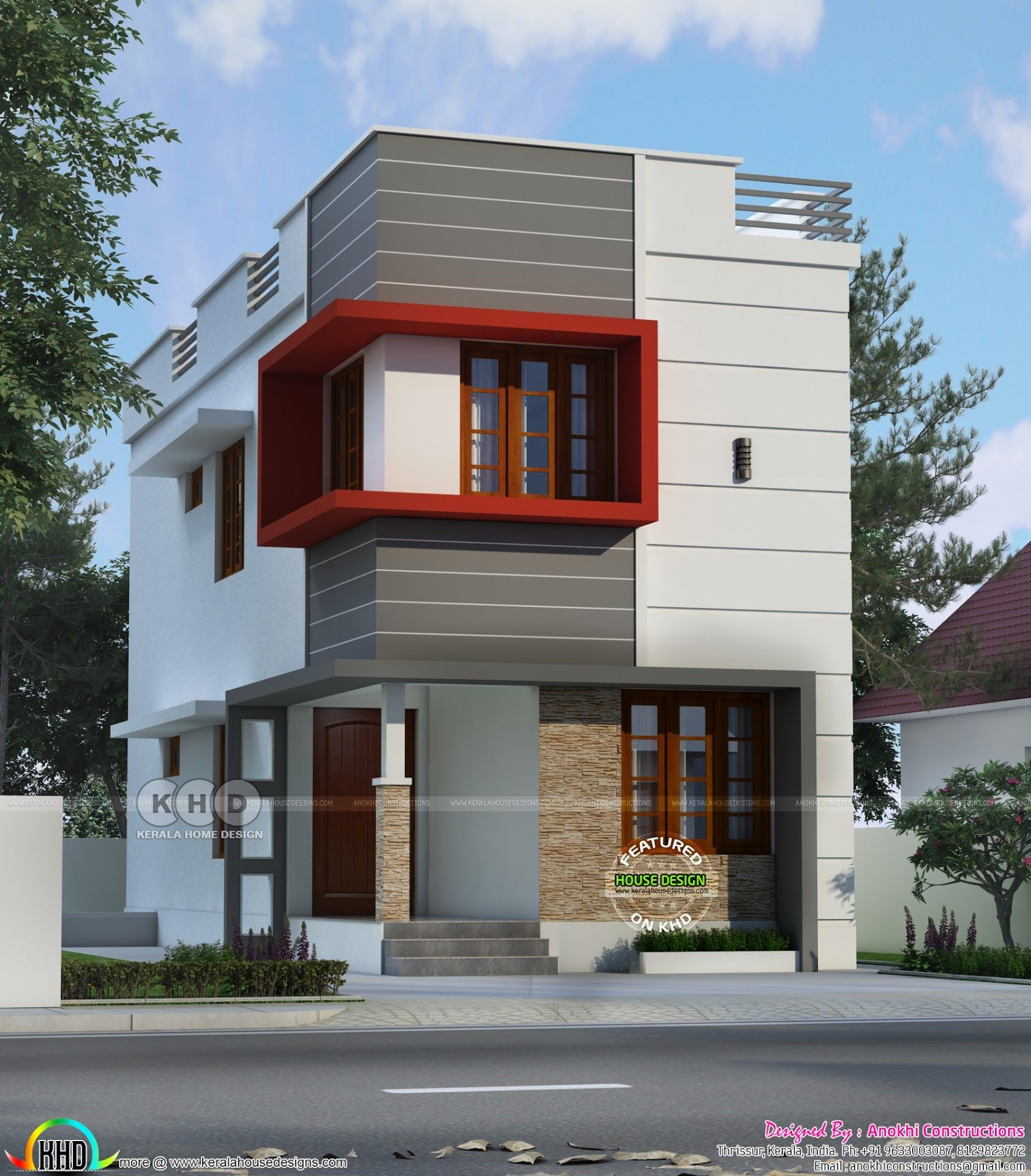 1200 Sq Ft Budget Home In 2 Cent Plot Kerala House Design Small House Design Exterior Indian House Plans