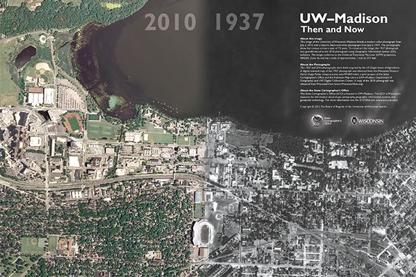 Want one of the coolest poster ever? Of course you do! Madison then and now gives you that awesome perspective of what the town looked like back then compared to now.  Get yours here: http://wgnhs.uwex.edu/pubs/oc140/