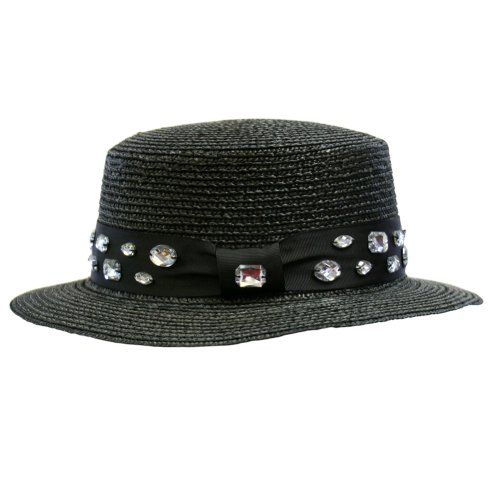 Black Short Brim Straw Hat With Black Rhinestone BandFrom #Luxury Divas List Price: $31.00Price: $22.99 Availability: Usually ships in 1-2 business daysShips From #and sold by Luxury Divas
