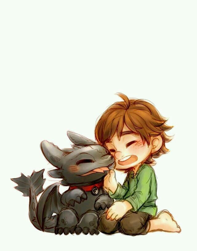 Baby Hiccup And Toothless A
