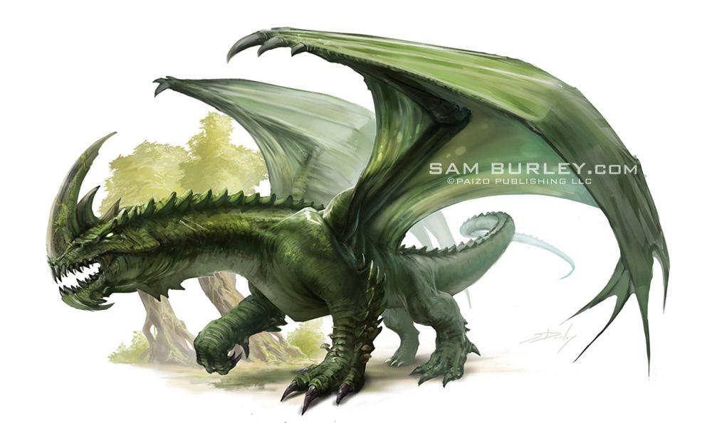 Green Dragon By Samburley On Deviantart Green Dragon Dragon Pictures Dragon Miniatures