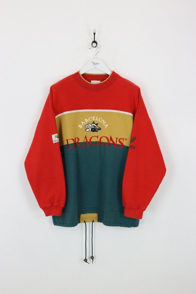 1ee514845 Adidas Barcelona Dragons Sweatshirt Red Green XL
