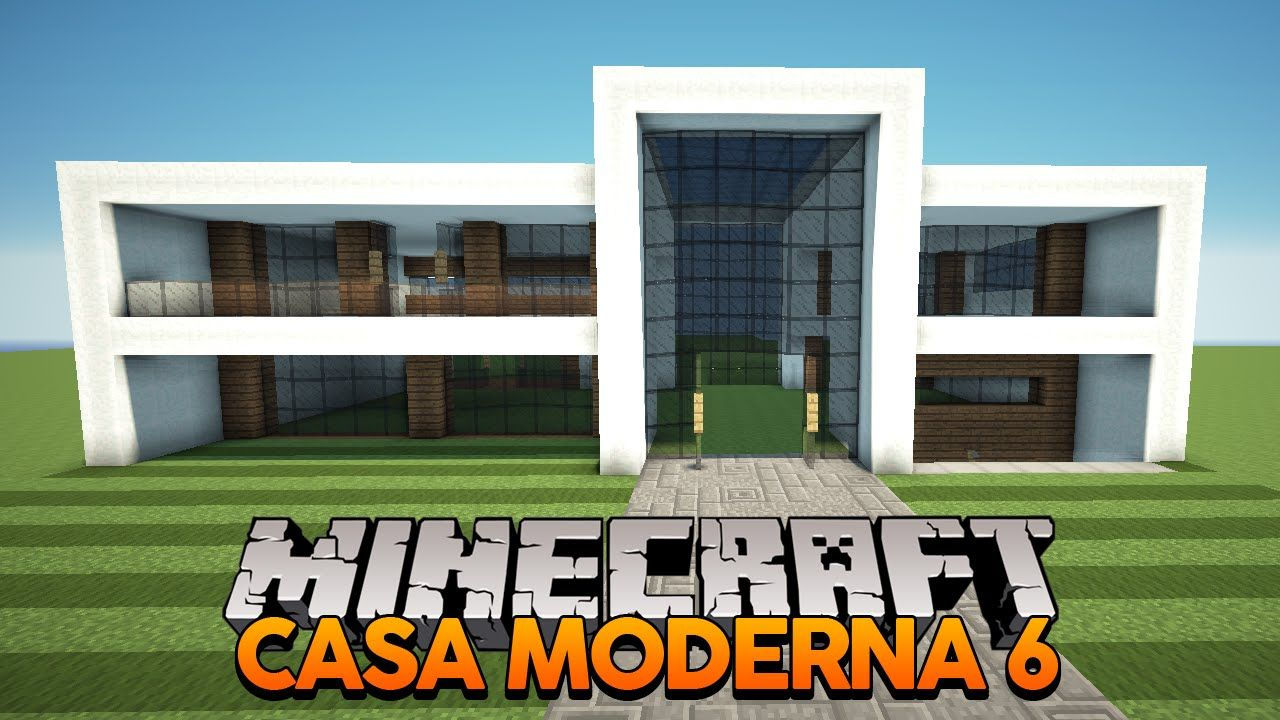 Casa moderna 6 jj pinterest casas modernas moderno for Casa moderna survival minecraft