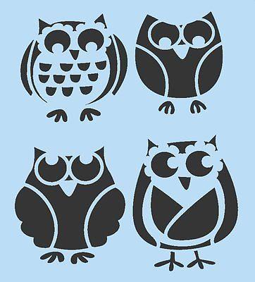 ☀☀ owl stencil owls stencils bird birds flexible template new 7\