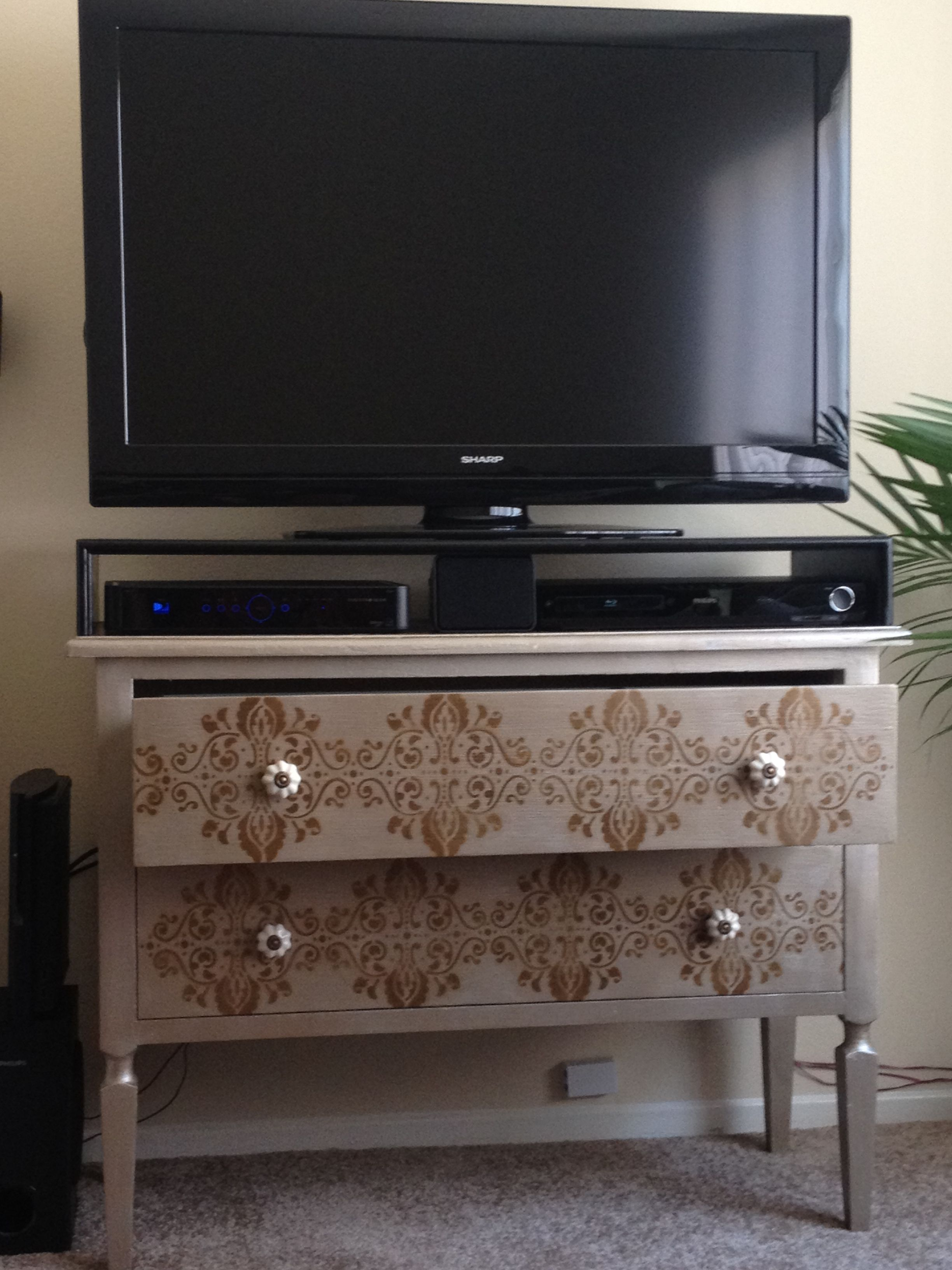 DIY entertainment stand. I love this!