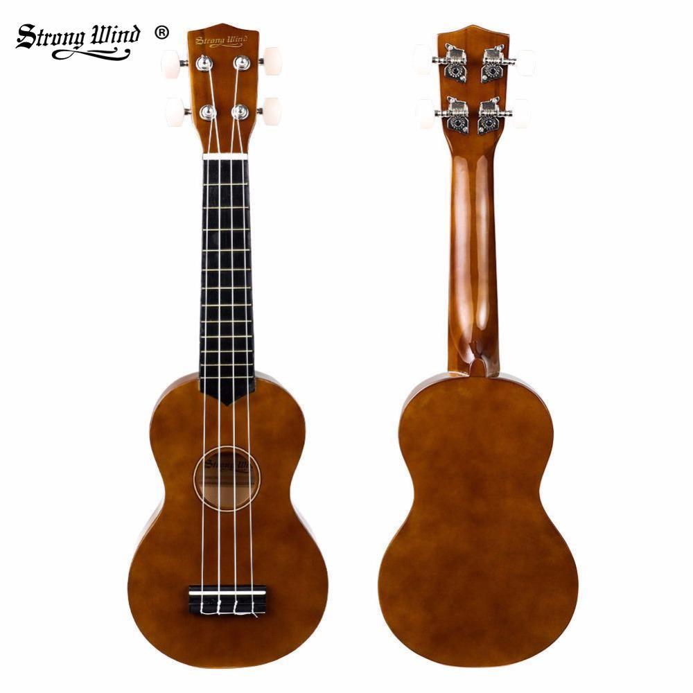 d03451c3cf Strong Wind Ukulele 21 Inch Soprano Ukulele Mini Acoustic Guitar Hawaii  Ukulele for Beginner Kids Brown Blue with Bag, Strings. Yesterday's price:  US $49.99 ...