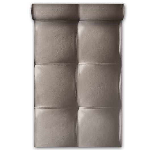 Papier Peint Vinyle Sur Intisse Capiton Cuir Taupe Larg 0 53 M Leroy Merlin 19 90 Papier Peint Vinyle Papier Peint Intisse