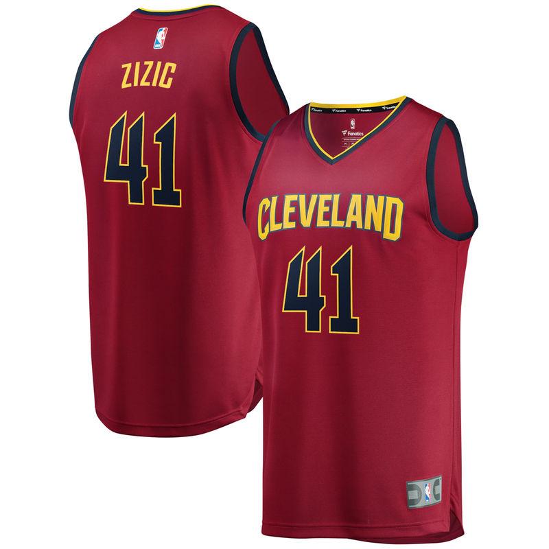 online retailer 6b79a 2d4b1 Ante Zizic Cleveland Cavaliers Fanatics Branded Fast Break ...
