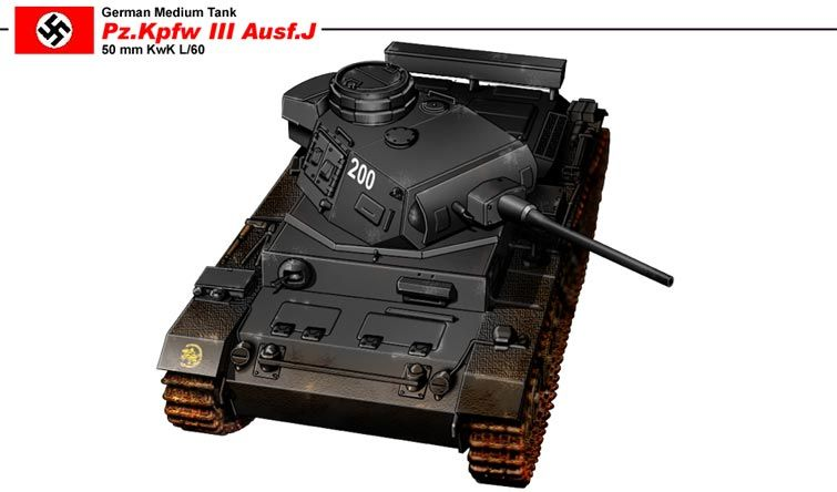 Pz.Kpfw III Ausf.J mit 50 mm KwK L/60
