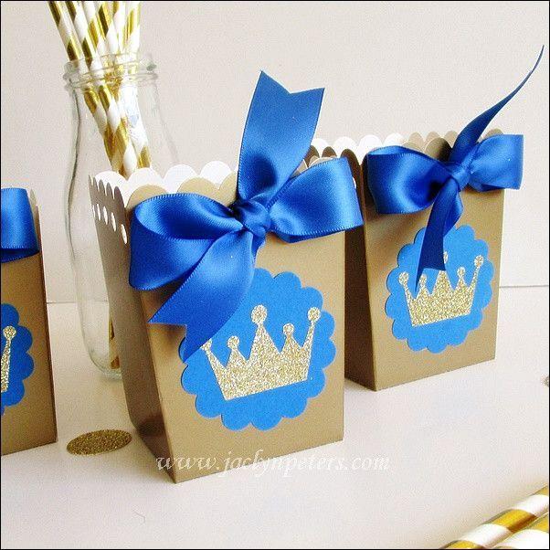 Royal Baby Gift Ideas : Royal prince popcorn favor boxes favors