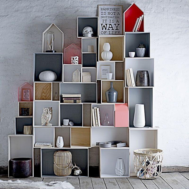 Exceptional Emil U0026 Paula   Bloomingville Klein Aufbewahrungskisten Haus Holz / Weiß    Online Kaufen