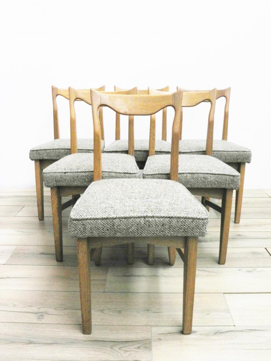 Serie De 6 Chaises Guillerme Et Chambron Modele Charles Galerie 87 Proantic Mobilier De Salon Antiquaires Chaise