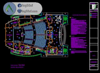 مخطط مشروع مسرح كاملا اوتوكاد Dwg خربشات مهندس Theatre Plan Architecture Plan Architecture Sketch