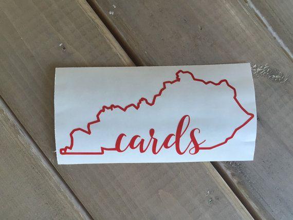 Cards kentucky car or laptop decal cardinals decal louisville cardinals decal