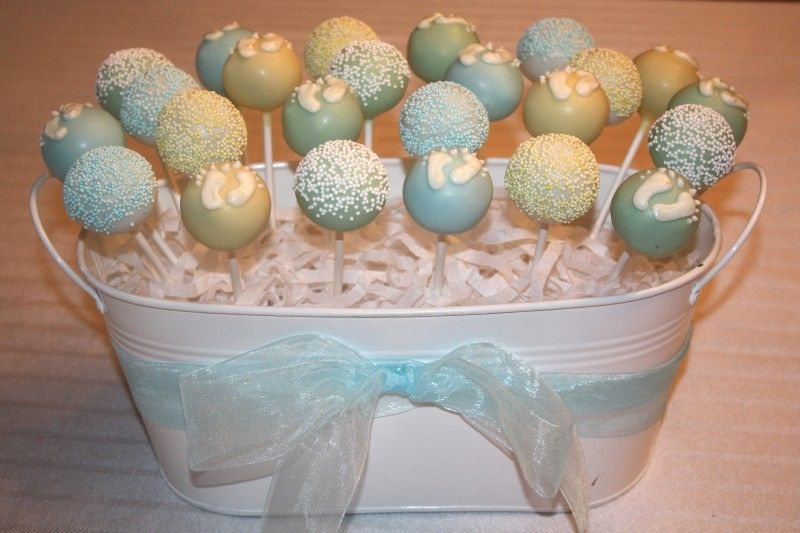 babyshower cake pops | Baby Shower Cookies and Cake Pops